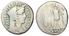Ancient Coins - L. Aemilius Lepidus Paullus, 62 BC, Silver Denarius