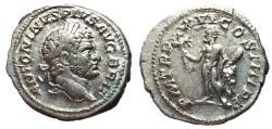 Ancient Coins - Caracalla, 222 - 235 AD, Silver Denarius, Hercules