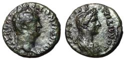 Ancient Coins - Domitian, with Domitia, 81 - 96 AD, Larissa Mint