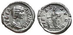 Ancient Coins - Julia Domna, 200 - 207 AD, Silver Denarius, Pietas