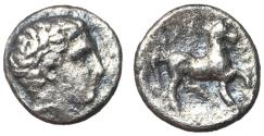Ancient Coins - Thessaly, Phalanna, mid 4th Century BC, Silver Trihemiobol, ex BCD Collection