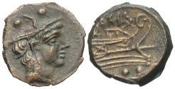 Ancient Coins - Roman Republic, Second Punic War, 215 - 212 BC, Sextans of Sardinia(?)
