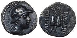 Ancient Coins - Kings of Baktria, Eukratides I, 170 - 145 BC, Silver Obol