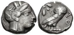 Ancient Coins - Egypt, Pharaonic Kingdom, Unknown Pharoah, 5th - 4th Century BC, Silver Tetradrachm