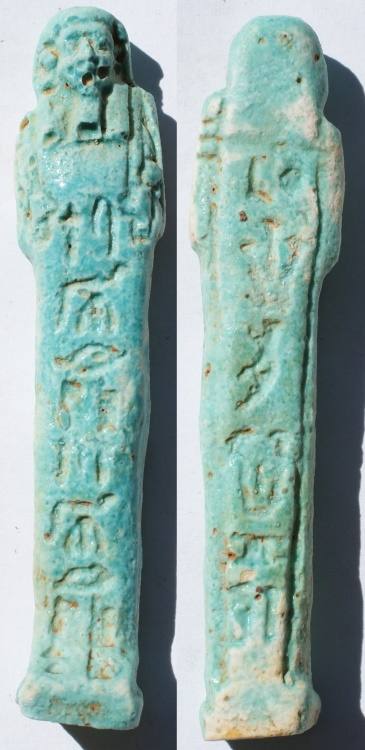 Ancient Coins - Egypt, Late Period from the 26th Dynasty to the Ptolemaic Era, circa 7th Century to 4th Century BC Named Ushabti with Heiroglyphs