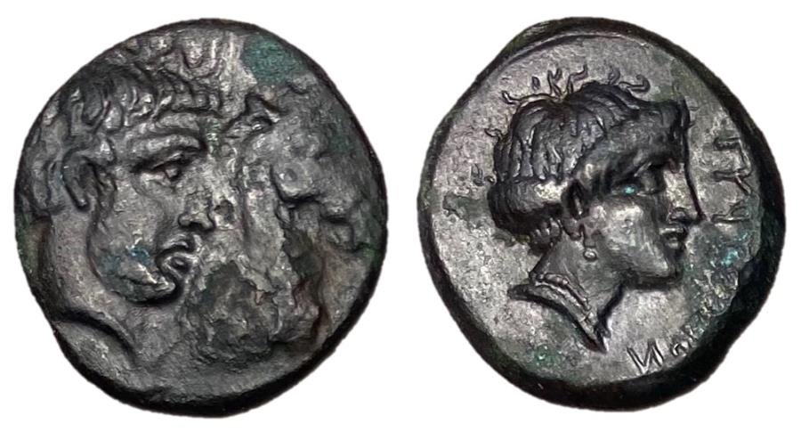Ancient Coins - Thessaly, Gyrton, 340 - 330 BC, AE Dichalkon, ex BCD Collection