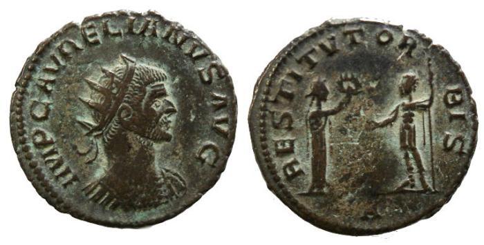 Ancient Coins - Aurelian, 270 - 275 AD, Antoninianus, Cyzicus Mint