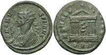 Ancient Coins - Probus, 276 - 282 AD, Antoninianus, Temple of Roma