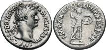 Domitian, 81 - 96 AD, Silver Denarius, Minerva