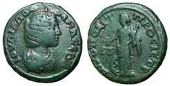 Ancient Coins - Julia Domna, 193 - 211 AD, AE23 of Nicopolis, Nemesis
