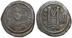 Ancient Coins - Justinian I, 527 - 565 AD, Follis of Constantinople, 35mm