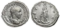 Ancient Coins - Gordian III, 238 - 244 AD, Silver Antoninianus of Antioch, Choice XF