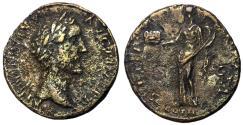 Ancient Coins - Antoninus Pius, 138 - 161 AD, Very Rare Sestertius of Sicily