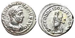 Ancient Coins - Elagabalus, 218 - 222 AD, Silver Denarius, Zombie Emperor!