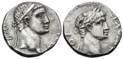 Ancient Coins - Kings of Pontus, Polemo II with Nero, 38 - 64 AD, Silver Drachm