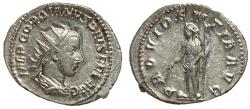 Ancient Coins - Gordian III, 238 - 244 AD, Silver Antoninianus, Providentia