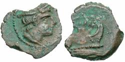 Ancient Coins - Second Punic War, 215 - 212 BC, AE Sextans, Sardinia Mint