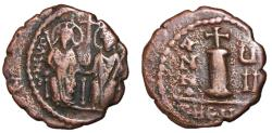 Ancient Coins - Justin II with Sophia, 565 - 578 AD, Decanummium of Theoupolis