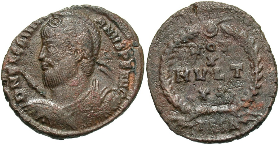 Ancient Coins - Julian II, 360 - 363 AD, AE20, Thessalonica