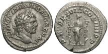 Ancient Coins - Caracalla, 198 - 217 AD, Silver Denarius, Fides