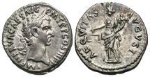 Ancient Coins - Nerva, 96 - 98 AD, Silver Denarius, Aequitas