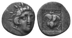 Ancient Coins - Caria, Rhodes, 170 - 150 BC, Silver Hemidrachm
