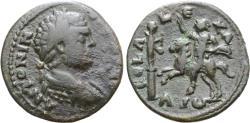 Ancient Coins - Caracalla, 198 - 217 AD, AE23, Alexandria Troas, Antoninus on Horseback