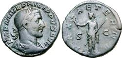 Ancient Coins - Philip I, 244 - 249 AD, Sestertius with Pax