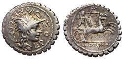 Ancient Coins - L. Pomponius Cn.f., 118 BC, Silver Denarius, Narbo Mint