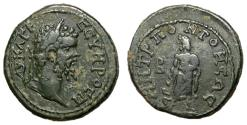 Ancient Coins - Septimius Severus, 193 - 211 AD, AE21 of Tomis, Asklepios, Very Rare