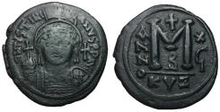 Ancient Coins - Justinian I, 527 - 565 AD, 38mm Follis of Cyzicus