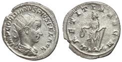 Ancient Coins - Gordian III, 238 - 244 AD, Silver Antoninianus, Laetitia