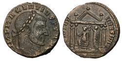 Ancient Coins - Maxentius, 306 - 312 AD, Follis of Ticinum