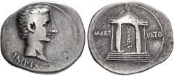 Ancient Coins - Augustus, 27 BC - 14 AD, Silver Tetradrachm of Pergamum, Temple of Mars
