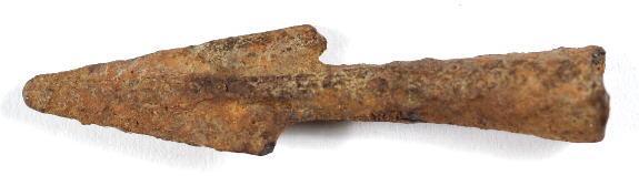 Ancient Coins - Bactria, 4th - 1st Century AD, Iron Arrowhead