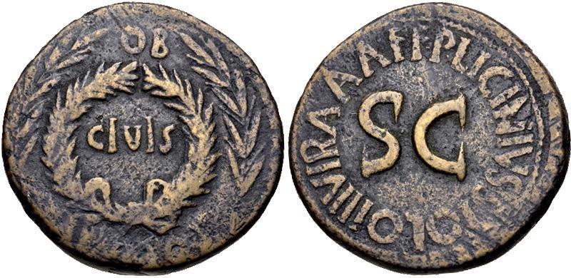 Ancient Coins - Augustus, 27 BC - 14 AD, Sestertius, P. Licinius Stolo, Moneyer