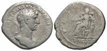 Ancient Coins - Hadrian, 117 - 138 AD, Silver Denarius, Concordia