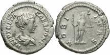 Geta, as Caesar, 198 - 209 AD, Silver Denarius, Nobilitas