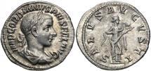 Ancient Coins - Gordian III, 238 - 244 AD, Silver Denarius, Salus, Good EF