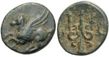 Ancient Coins - Corinthia, Corinth, 306 - 303 BC, AE12, Pegasos & Trident