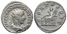Ancient Coins - Gordian III, 238 - 244 AD, Silver Antoninianus, Fortuna