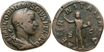 Ancient Coins - Gordian III, 238 - 244 AD, Sestertius, Sol