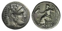Ancient Coins - Kings of Macedon, Alexander III, 336 - 323 BC, Silver Drachm, Miletos