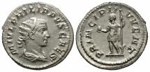 Ancient Coins - Philip II, as Caesar, Silver Antoninianus, The Heir Apparent