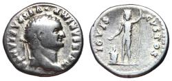 Ancient Coins - Titus, as Caesar, 76 AD, Silver Denarius, Jupiter