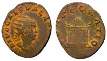 Ancient Coins - Divus Valerian II, 255 - 257 AD, Antoninianus with Funeral Pyre