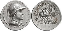 Ancient Coins - Baktria, Eukratides I, 170 - 145 BC, Silver Tetradrachm, aUNC