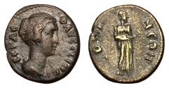Ancient Coins - Faustina Jr., 147 - 175 AD, AE18 of Docimeium, Extremely Rare