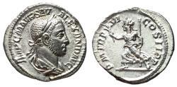Ancient Coins - Severus Alexander, 222 - 235 AD, Silver Denarius, Pax, Choice EF-AU