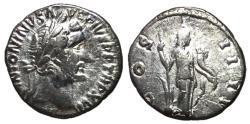 Ancient Coins - Antoninus Pius, 138 - 161 AD, Silver Denarius, Fides